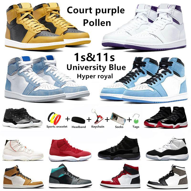 University blue 1s mens scarpe da basket punta nera dark mocha 11 concord 11s allevato ossidiana senza paura 1 satin snake uomo donna sneakers sportive Air Jordan 1 jordans 11