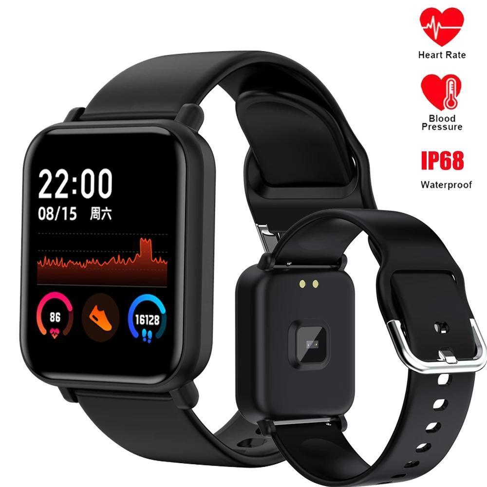 Full Touch Smart Watch Men Beart Rate Fitness Tracker Braclet Женщины Корпус для артериального давления Сообщение Часы деятельности Спортивная группа