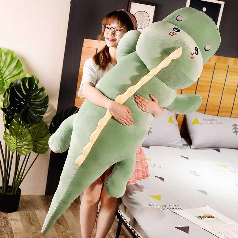 Gran tamaño largo encantador dinosauri brush juguete suave dibujos animados animal dinosaur peluche muñeca novio almohada niños niña regalo de cumpleaños 210706