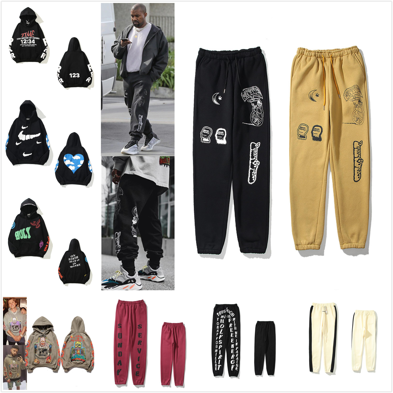Kanye Mens Pantalones High Street Pant para hombres de alta calidad Sweetpants Casual Hip Hop Camo Streetwear 0102
