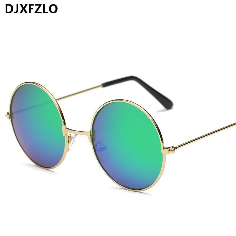 2021 Vendimia Moda Redondo Gafas de sol Redonda Para Hombres y Mujeres Diseñadores Sunglasses Para Mujer Príncipe Óptica Oculus De Sol Femin Oculos