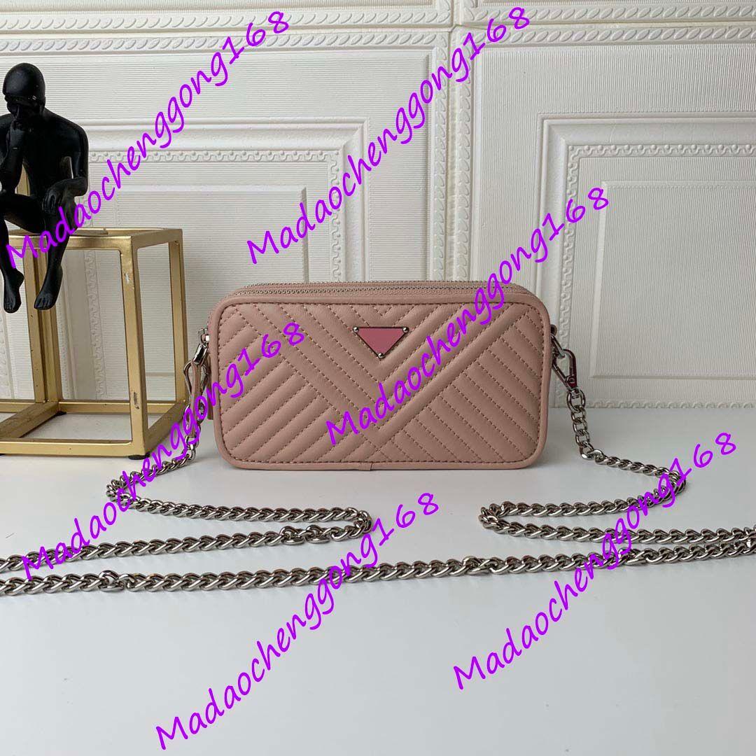 Top Qualität Berühmte Frauen Unterarm Tasche Marke Designer Umhängetasche Echtes Leder Mode Kette Tasche Kreuz Körper Geldbörse Farbe Weibliche Frauen Handtasche 19x10x5.5cm