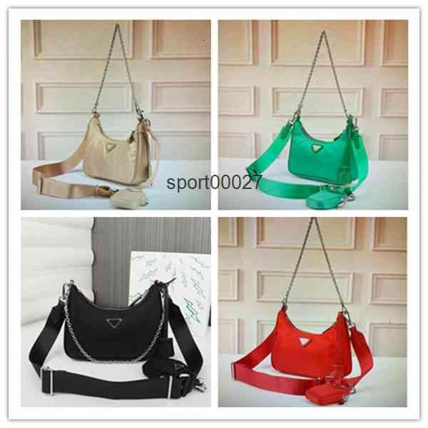 2pcs set fashionRe-Edition 2005 Nylon woman s bags lady Womens crossbody tote Hobo Shoulder Purses Handbag