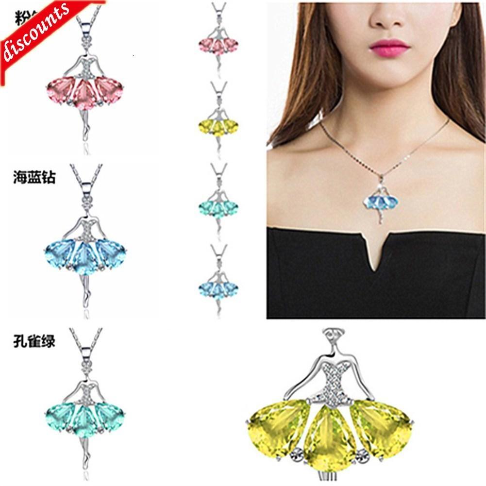 En çok satan armut şekilli zirkon elmas yaratıcı dans sprite bale kız parti kolye jdz826