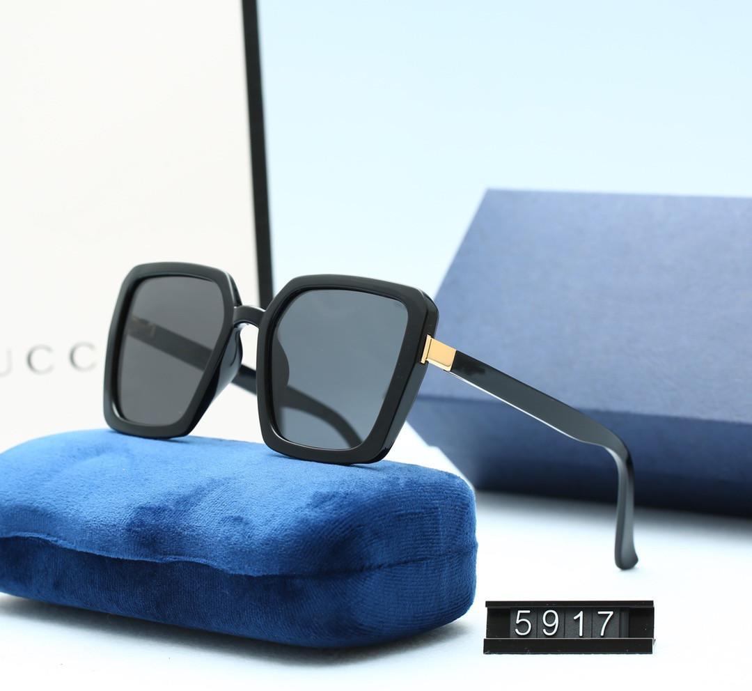 مصمم النساء مربع النظارات الشمسية الاستقطاب الصيف نمط كامل الإطار أعلى جودة uv حماية 5917 تعال مع مربع حالة