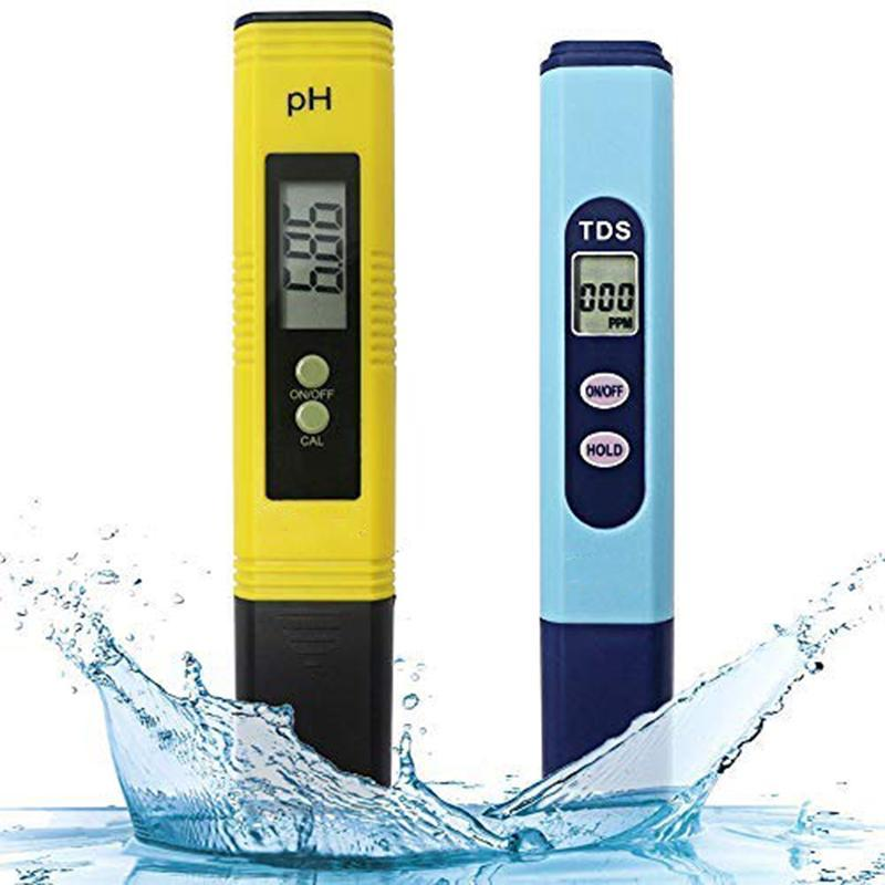 Water Quality Test Meter,Ph Meter Tds 2 In 1 Kit With 0-14.00Ph And 0-9990 Ppm Measure Range For Hydroponics,Aquariums,Dri PH Meters