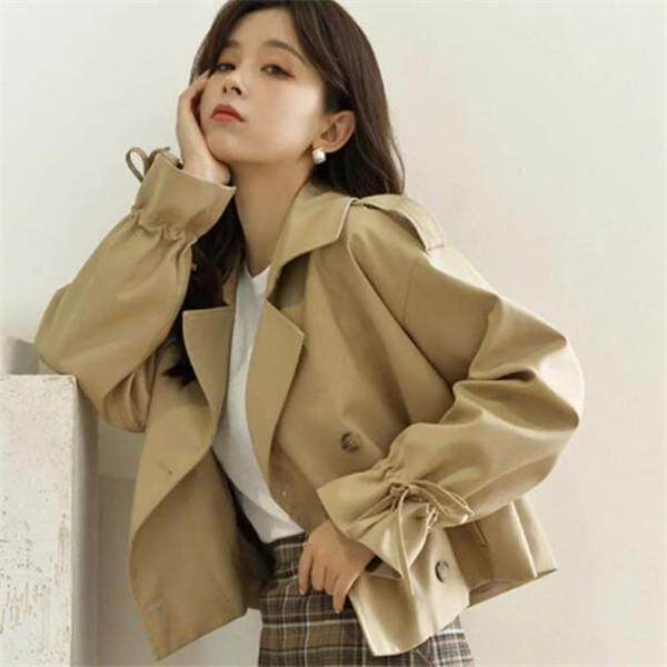 2021 Nuova giacca da donna abbigliamento stile coreano allentato tuta alla moda a vento corto giacche tuta sportiva cappotto