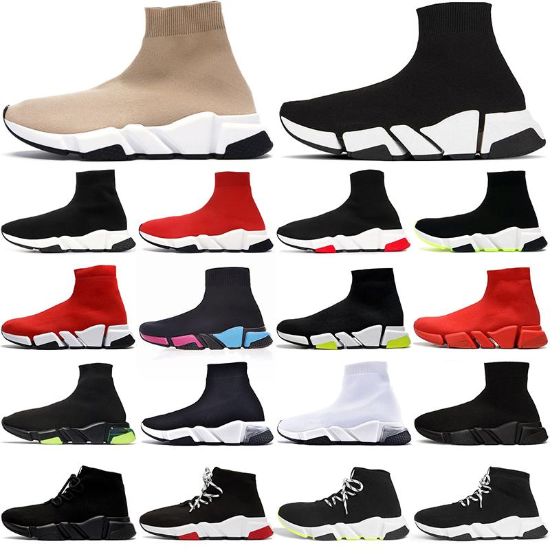 سوك أحذية رجالي نسائي حذاء الجري منصة حذاء رياضي موضة نعل شفاف رياضي خارجي 36sock shoes -45