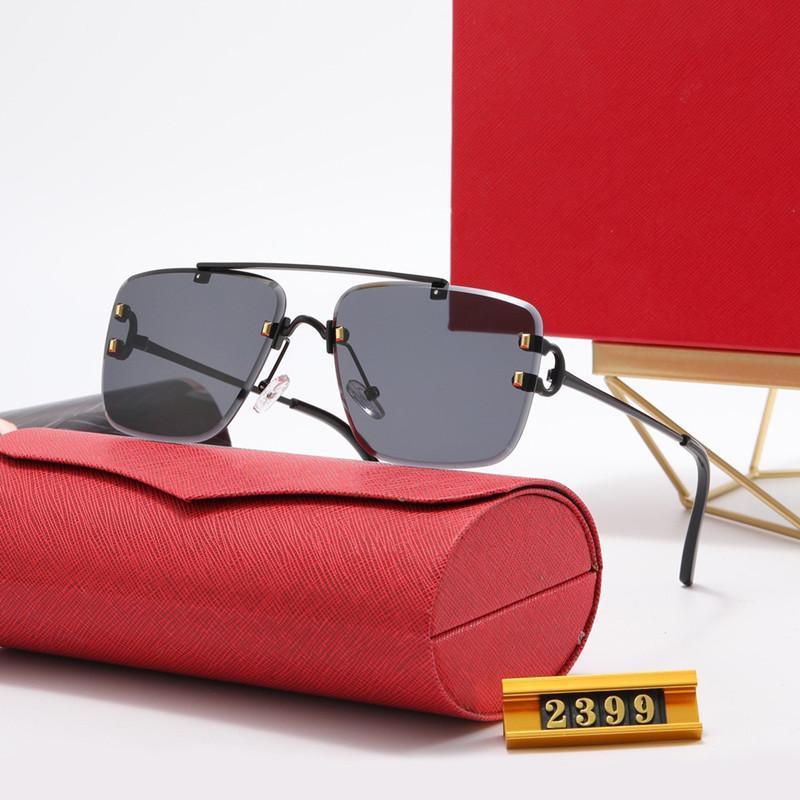 Moda classico uomo di guida occhiali da sole di alta qualità occhiali da sole per la fidanzata Polarized UV400 lenti in pelle custodia in pelle contenitore accessori Best regalo