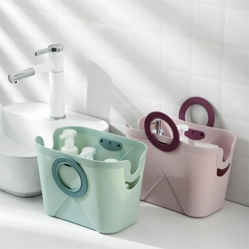 Paniers de stockage Douche Panier de bain Portable avec poignée Maquillage Organizer Boîte Boîtier Accessoires de salle de bain