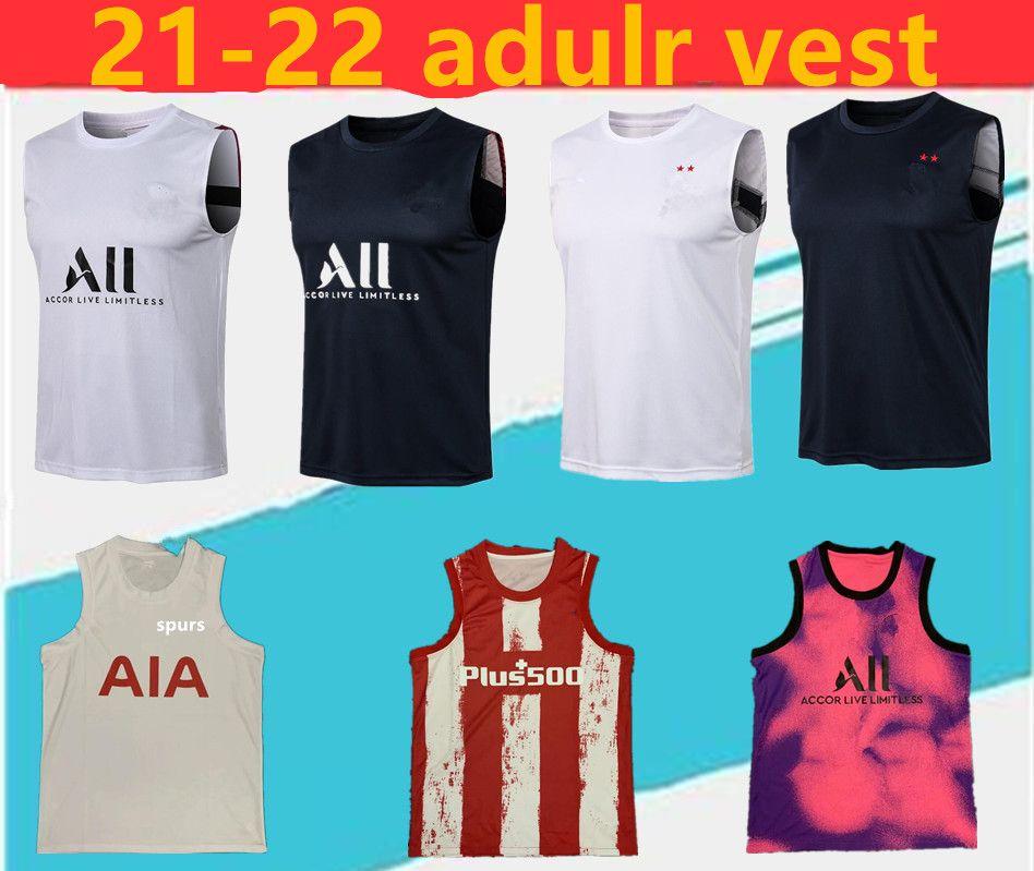 2021/2022 Spurs Pari Futbol Yelek Futbol Suit Maillot De Ayak Erkekler Gömlek, Chandal Jogging Kolsuz Kazak