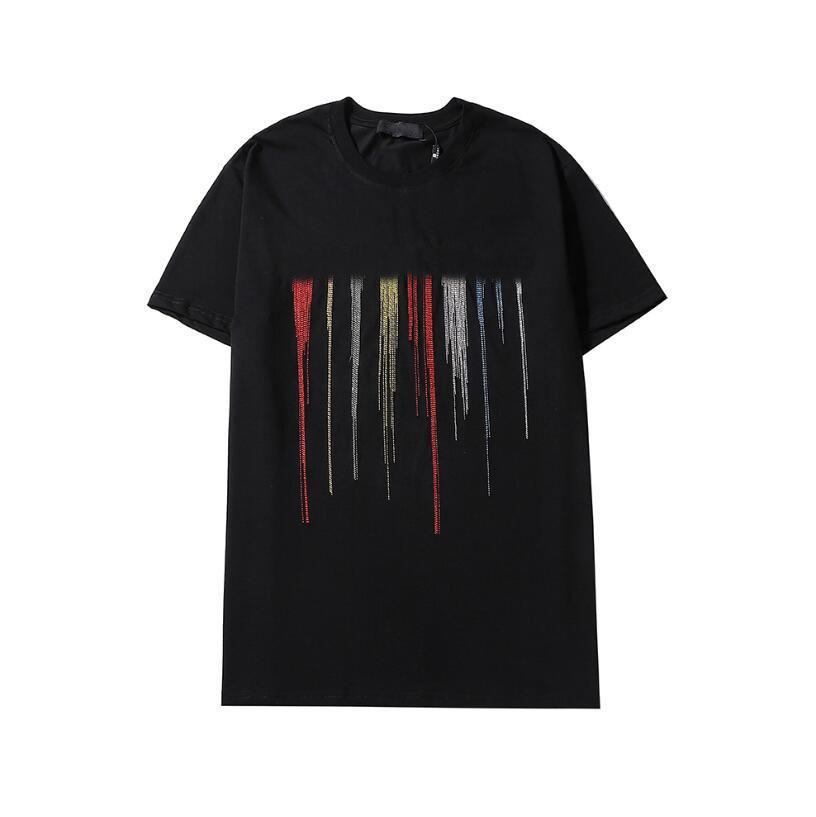 2021s Nakış T Gömlek Erkekler Kadınlar Çift Yaz Yüksek Kalite Sokak Kısa Kollu Rahat Tee