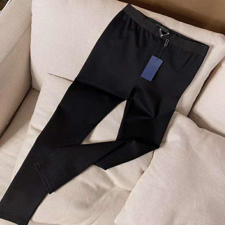 Kadınlar Rahat Pantolon Bahar Sonbahar Stil Lady Ince Pantolon Throuse Yoga Tozluk Dış Giyim Mektupları ile Yüksek Bel Spor Capris Baskılı