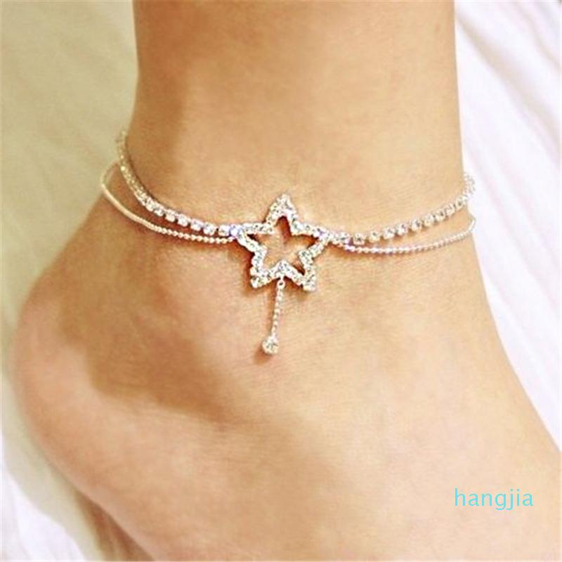 Five-Pointed Star Shaped Anklets 2020 New Women Ankle Summer Beach Charm Rope High Quality Jewelry Accessories For Women Gift