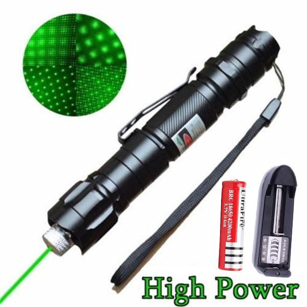 مؤشر الليزر الأخضر مشهد الليزر مؤشر قوي قابل للتعديل التركيز lazer مع رئيس القلم الليزر حرق مباراة X0524