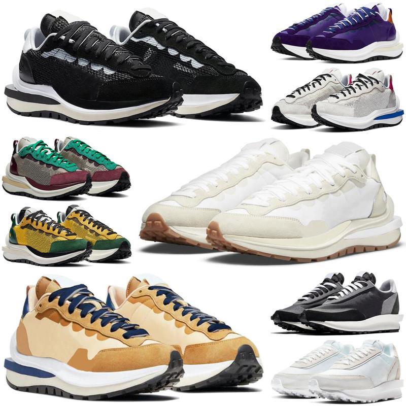 sacai x LDWaffle LDV Waffle Racer 2020 lüks tasarımcı koşu ayakkabı erkekler kadınlar Siyah Beyaz çam Yeşil Gusto Varsity Mavi erkek eğitmenler sneakers