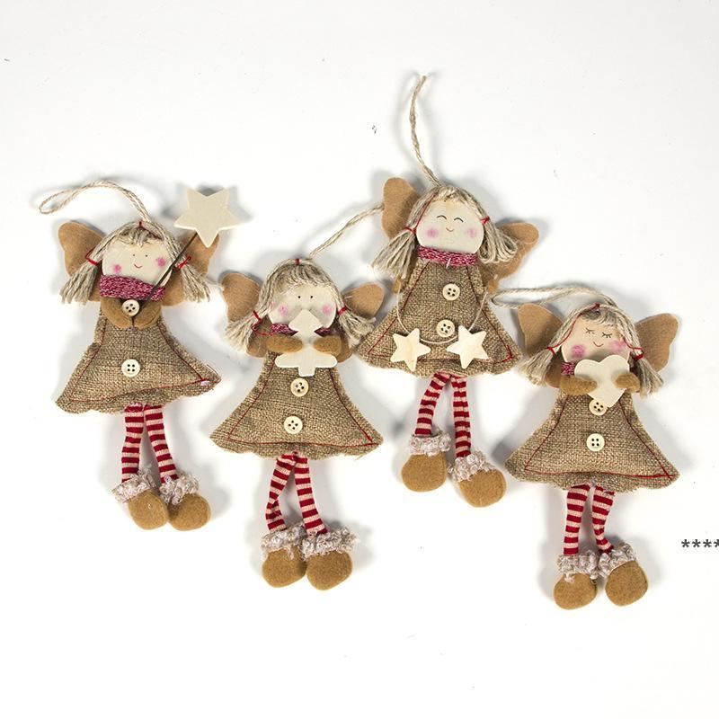 Navidad colgante ornamentos de gota Muñeca de ángel con patas largas Árbol de Navidad Decoraciones de vacaciones Decoraciones de Navidad para el hogar Navidad NHD8934