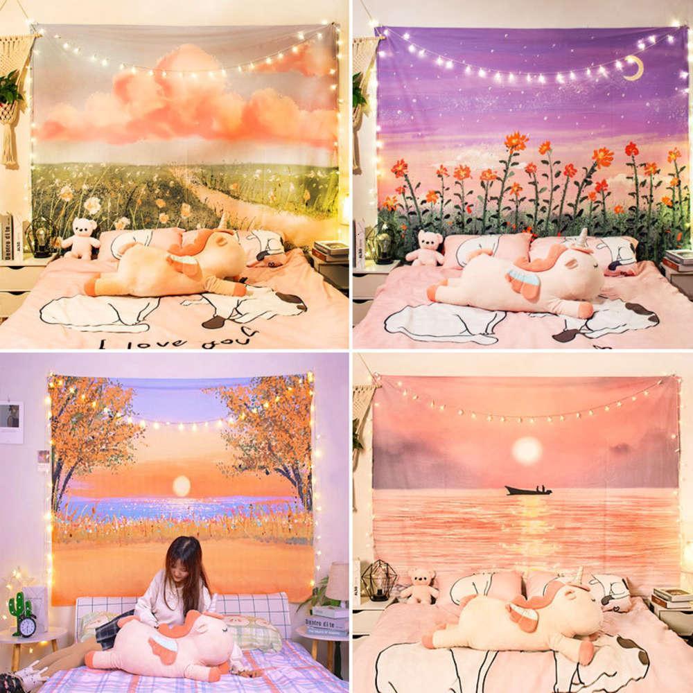 Acquerello in olio pittura a olio sfondo panno nordico paesaggio retabblicato tamponabile decorazione della camera da letto camera da letto
