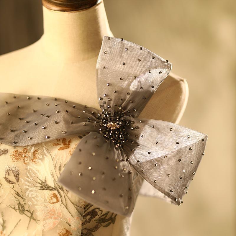 100% echter Luxus-Slash-Kragen-Perlen-Bowknot-Taille Blumenschleier mittelalterliches Kleid Renaissance-Kleid Prinzessin viktorianisch Venedig / Marie Antoinett Belle Ball