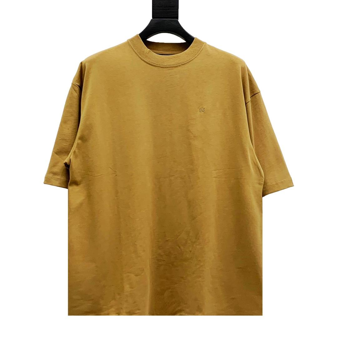 21ss 패션 럭셔리 파리 봄 여름 티셔츠 작은 로고 자수 티 남성 여성 면화 짧은 소매 높은 거리 Tshirt 최고 품질