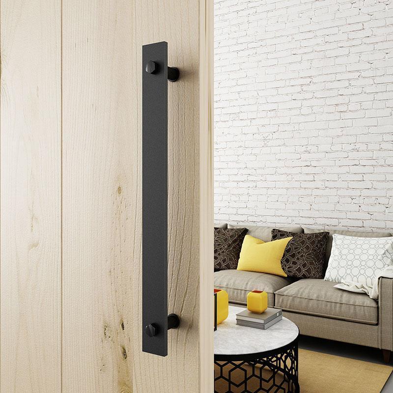 Stainless Steel Handle Barn Door Pulls American Style Black Cabinet Handles &