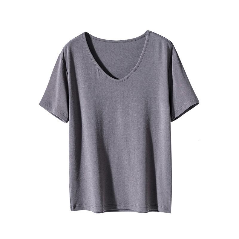 Xiuye V-neck T-shirt for women tee with 2021 summer Korean temperament slim bottom shirt solid color thin top