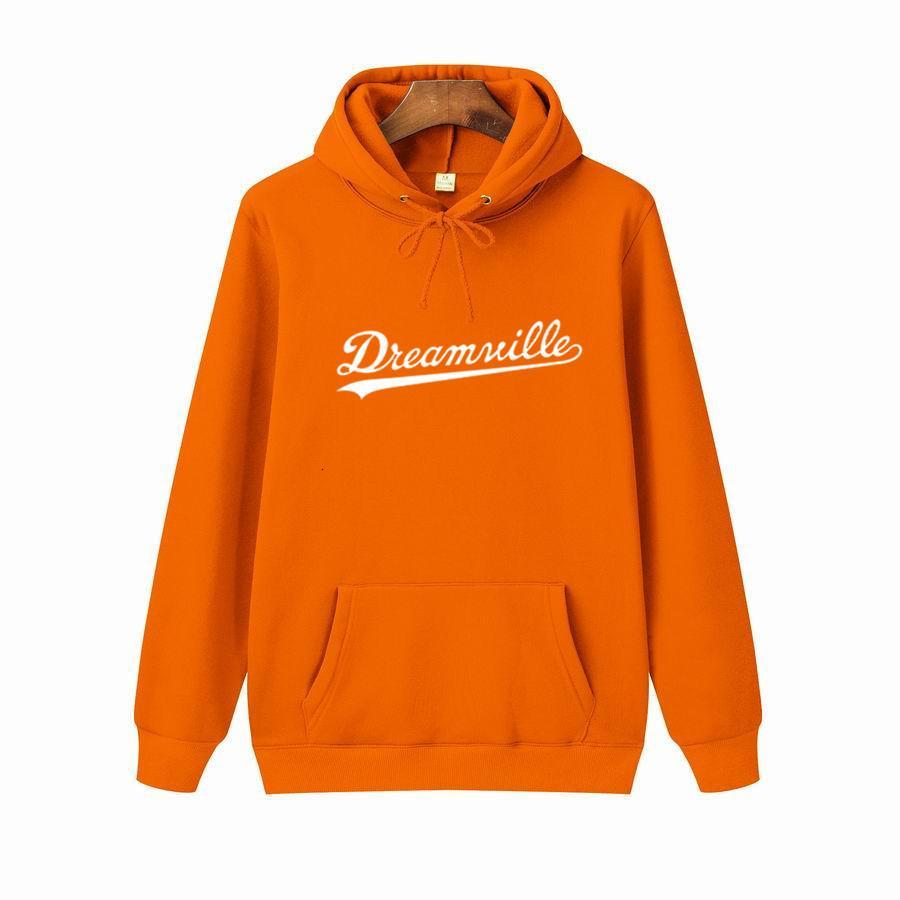 Sweat à capuche décontracté de la mode extérieure de grande taille Dreamville imprimé pull