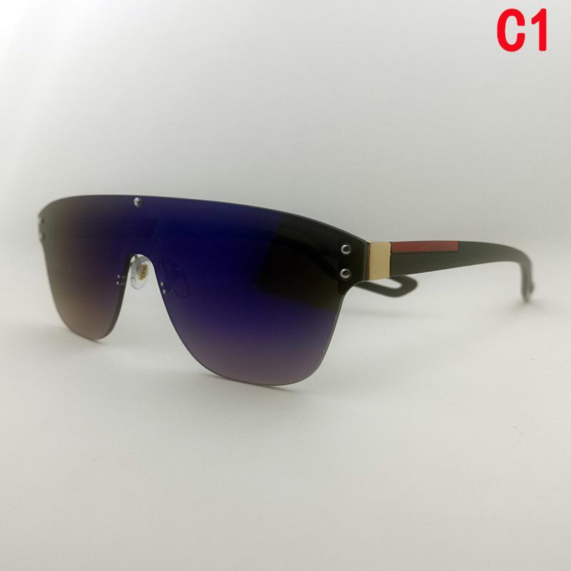Neue Modedesigner Sonnenbrille Frau Luxurys verbunden Linse Große Größe Halbrahmen Goggle Top Qualität UV400 Schutzbrille Übergroß