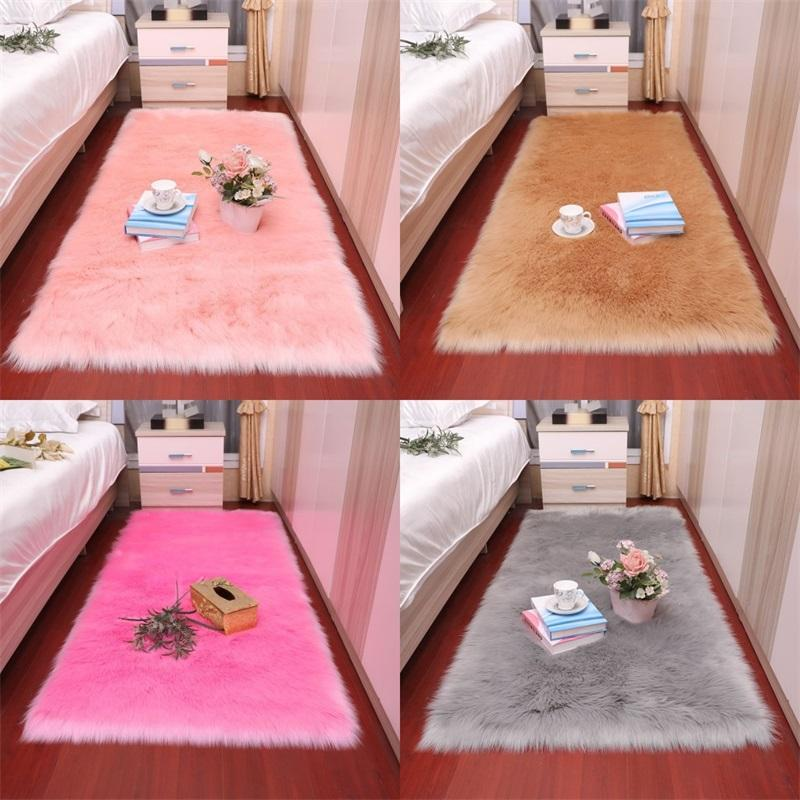 Living room bedroom thick carpet plush carpet children's activity pile bed window bedside artificial wool soft pile cushion 740 R2