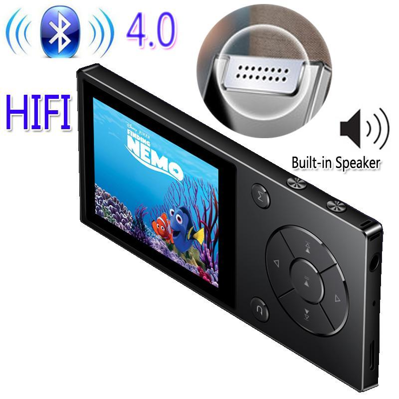 Lettore MP4 Originale Ruizu D11 Bluetooth Player MP3 Musica Musica di metallo da 8 GB con altoparlante incorporato FM Radio Support TF Card