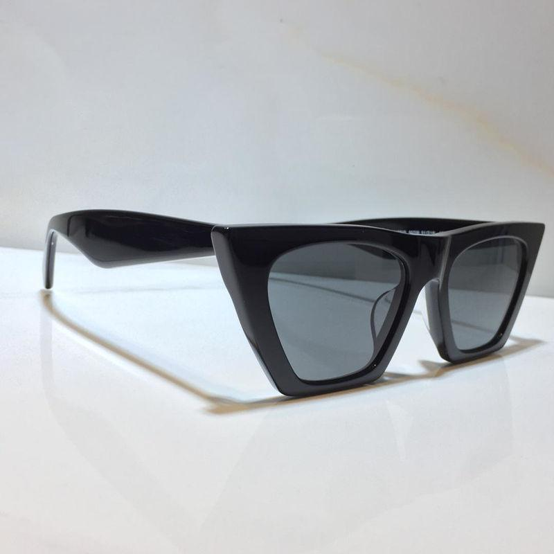 Óculos de sol para mulheres gato de verão olhos estilo anti-ultravioleta retro lente placa quadrado quadro completo moda óculos aleatório caixa 41468