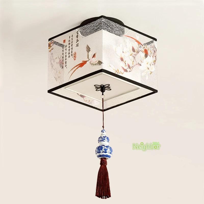 클래식 중국 스타일 디자인 천장 조명 현대 LED 거실 침실에 대 한 펜 던 트 램프 통로 복도
