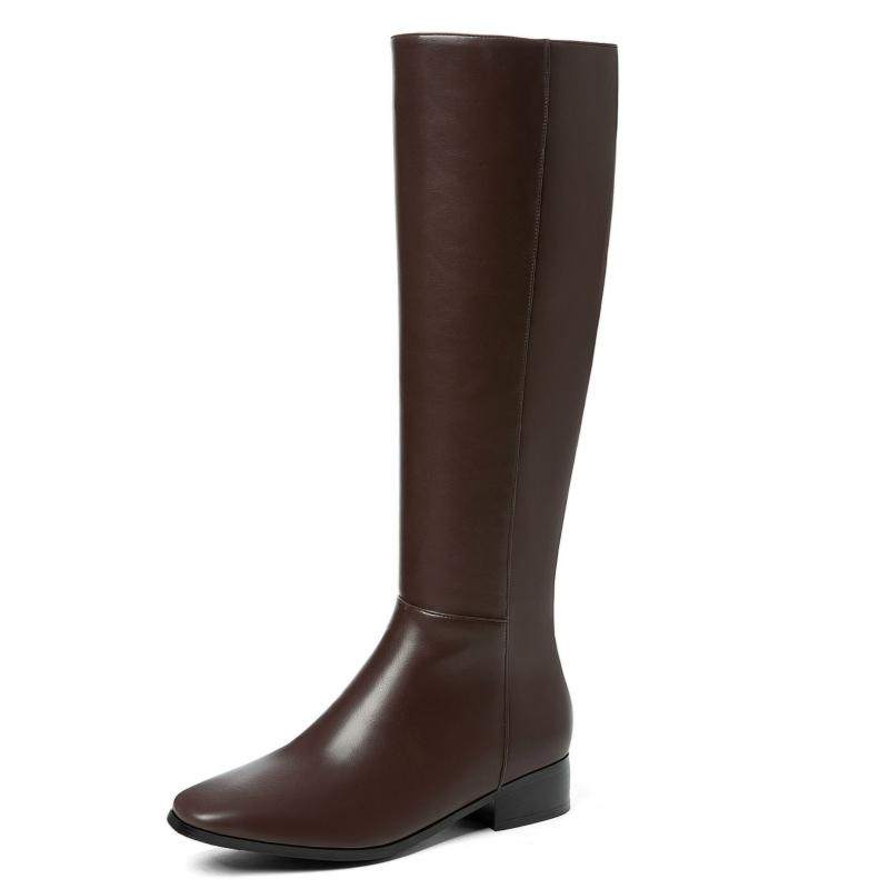 Fashion Knee High Boots Women Shoes Large Size Low Heels Ladies Women's Winter Autumn Spring 210521