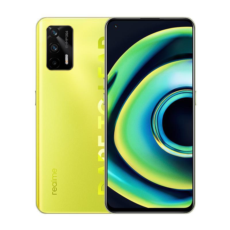 Original Realme Q3 Pro 5G Mobiltelefon 8 GB RAM 128GB 256GB ROM MTK Dimension 1100 64MP Android 6,43 Zoll Amoled Vollbild-Fingerabdruck-ID Gesicht 4500mAh Smart Mobiltelefon