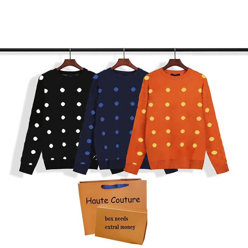 2021 Moda Moda Mujeres Suéteres Clásicos Patrón Imprimir Sudaderas Casual Al Aire Libre Pareja Pareja Tops Cómodo Suéter Elástico