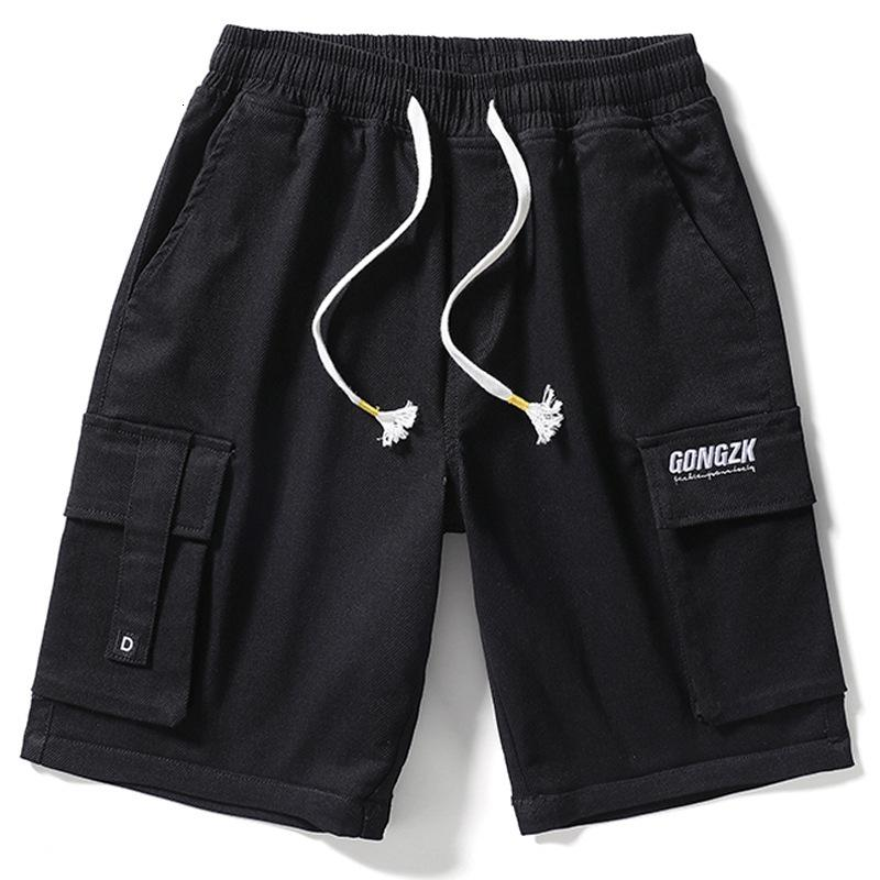 Men's Jeans work wear shorts in summer Cargo Pants Washed