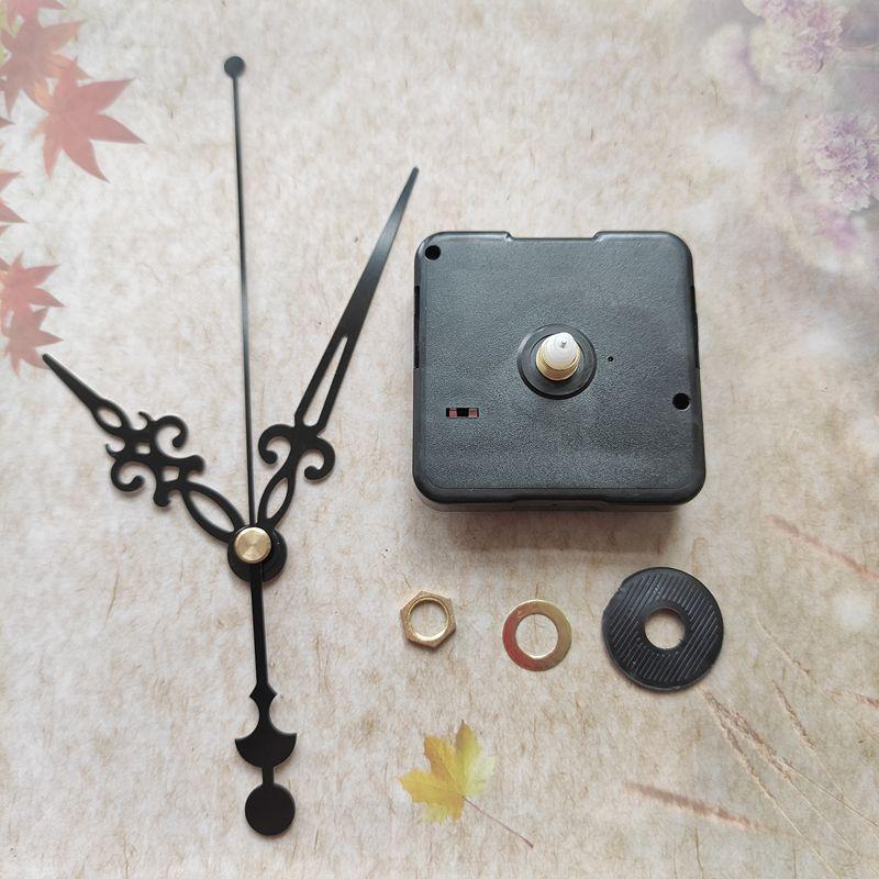 Whosale 50 unids No Tic Silent Cuarzo Reloj Kit Mecanismo de husillo Mecanismo de husillo 12mm Eje con las manos
