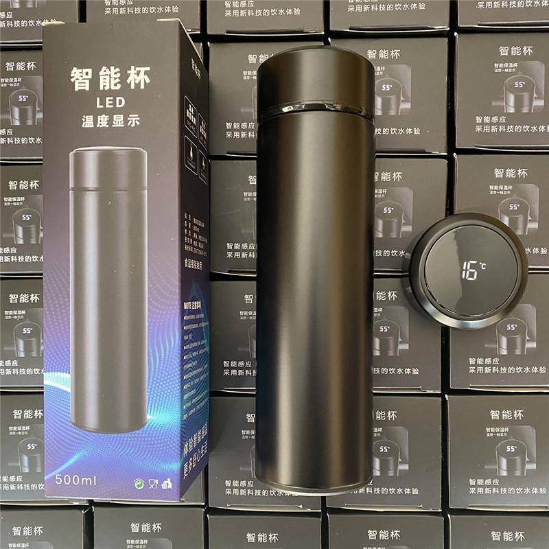 500ml Smart Mug Tumblers Temperature Display Vacuum Stainless Steel Water Bottle Kettle Thermo Cup With LCD Touch Screen Gift