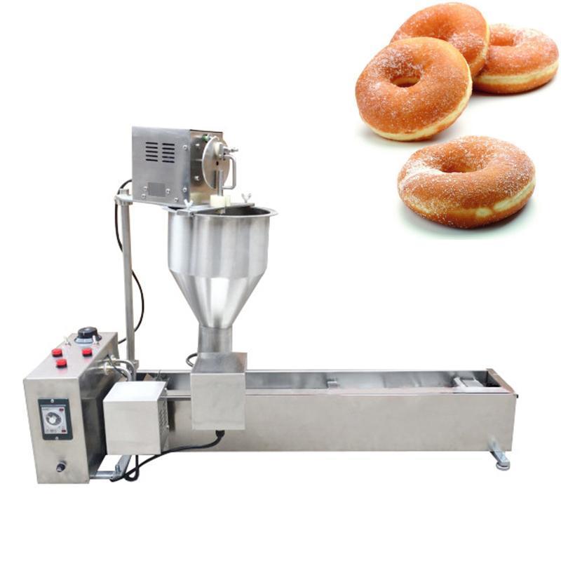 Fabricantes de pan 2500W Forma de bola Mini Máquina de rosquilla Fry eléctrica FRY COMPLETO DONUT MÁS COMERCIAL 304 Acero inoxidable