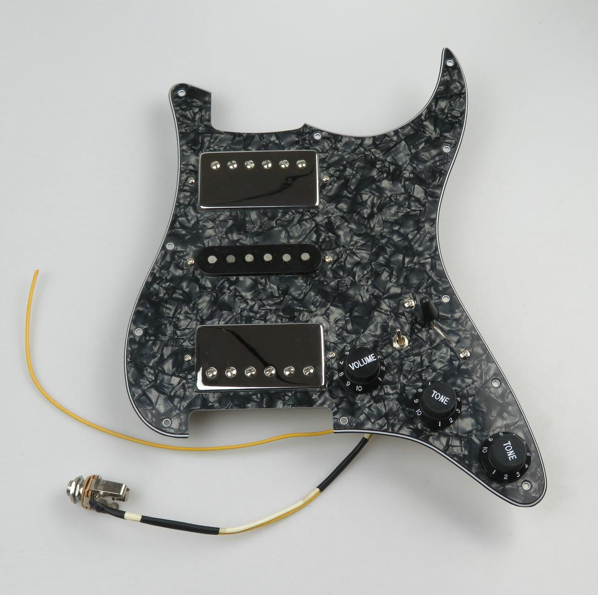 Pickup per chitarra Prewired PickGuard Alnico5 Humbucker Pickups HSH Style Guitar Parts per la chitarra Strat