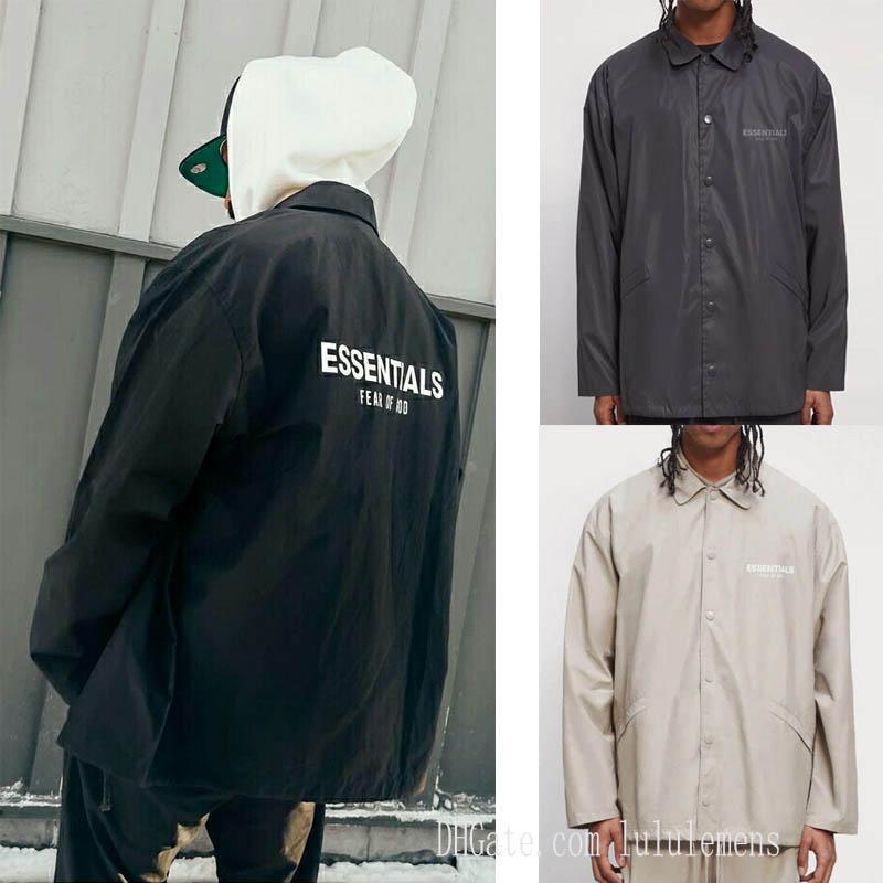 2021 Erkek Tanrı Korkusu Giyim Ceket Essentials Sezon 7 Çift parça Sis Koçu Ceketler Rüzgarlık Rahat Ceket Fabrika Outlet Sıcak-Satmak