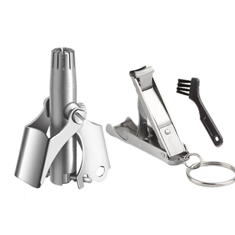 Elettrico Naso Ear Trimmers Clipper Rasoio Pulito Remover Kit Kit Manuale Acciaio inossidabile Trimmer per capelli Set portatile Vibrissa