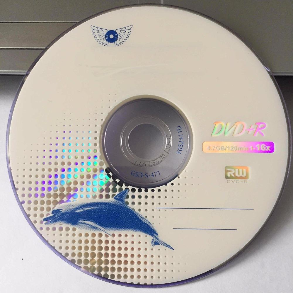 Wholesale 5 Blank Disks Grade A x16 4.7 GB Blue Whale Printed DVD+R