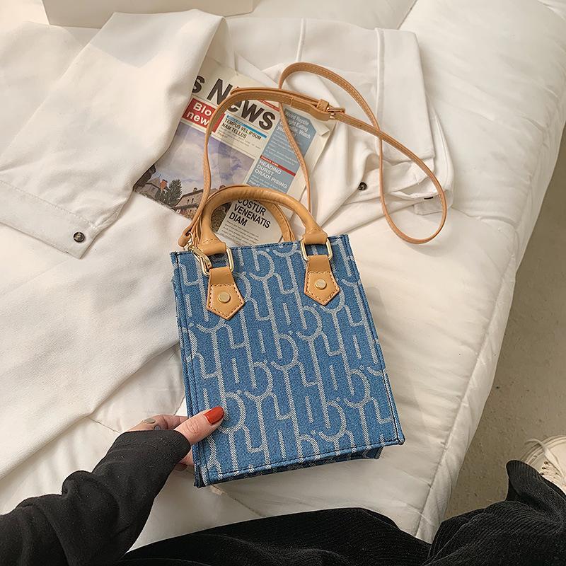 Moda Saco de Impressão Feminino Messenger Bags 2021 Pequeno Bolsa Quadrada Designer Versão Coreana Marca Mini Uma bolsa de ombro Luxo