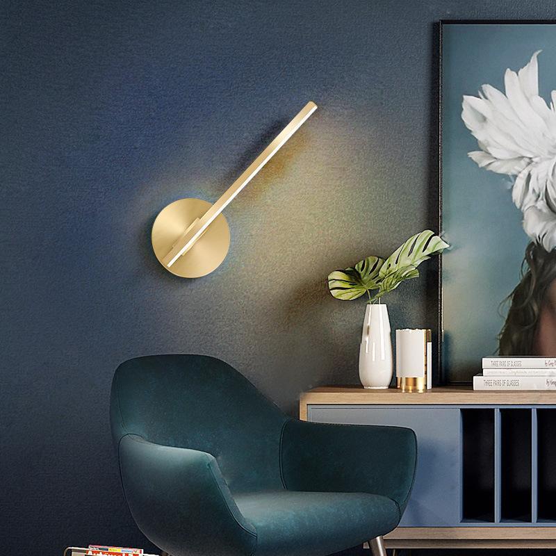 북유럽 LED 나무 침실 빛 벽 조명 램프라 파드 거실 램프 램프