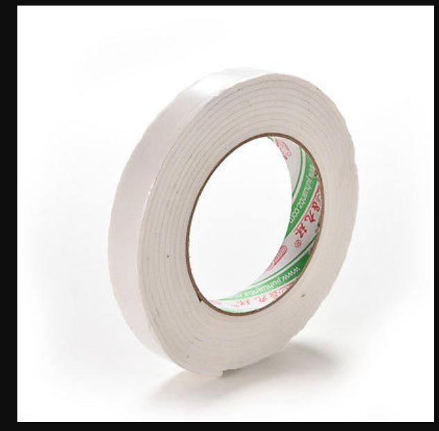 Wholesale- 2016 1Roll 1.8x300cm Double Sided Tapes White Foam Super Strong Adhesive Sticky Tape Roll LZ0792