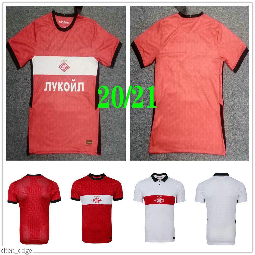 2020 2021 Spartak Moscow Soccer Jerseys Promes Bakaev Zobnin Schurrle Dzhikiya Til Ponce Calcio Custom 2021 Casa Red Football Camisa Uniforme
