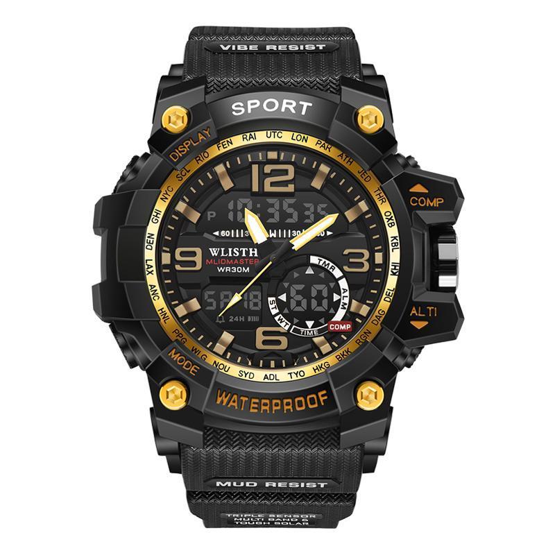 Erkek Saati Spor Dijital İzle Lüks Erkekler Askeri Şık Erkek Elektronik Led Relogio Saatı