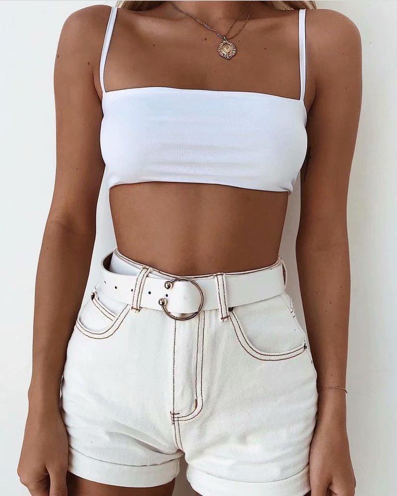 Kadın Şort 011522 Yaz Beyaz Patchwork Vintage Yüksek Bel Streetwear Kısa Kot Kadın Denim Femme ZT1L
