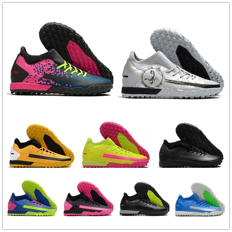 2021 Mens Phantom GT Academy Dynamic Fit TF Superfly Football Shoes Boots Men Designer Knit MD Outdoor Training Soccer Cleats Sneaker scarpe calcio
